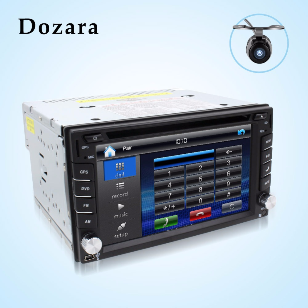 Teyp 2din araba dvd GPS/Radyo tuner/MP3/USB/SD/Bluetooth/Stereo/Video Ücretsiz Harita ve Kamera