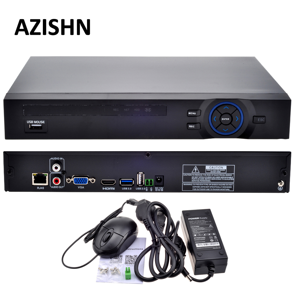 16CH NVR ONVIF CCTV 16CH 1080 P NVR/4CH 5 M Ağ SATA Video Kaydedici H.264 1080 P için HDMI XMEYE P2P Clould 5MP IP kamera