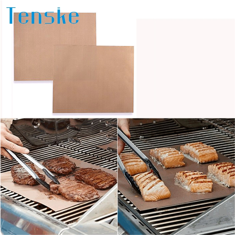 Tenske accessoire barbecue Hot selling Kitchen Copper Chef Grill and Bake Mats Outdoor BBQ Tools 2Pcs/Pack *30 GIFT 2017