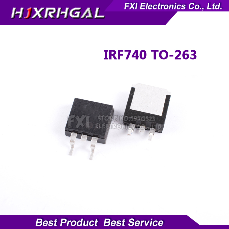 100 ADET IRF740 IRF740S TO-263 TO263 GS14C40L SMD