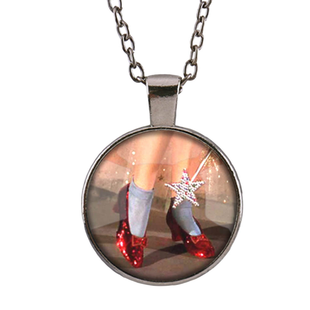 2017 Red Garnet Necklace Princess Shoes Chain Necklace Jewelry For Women Jewelry Girls Gift