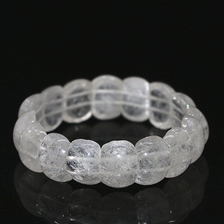Free shipping elegant white natural quartz crystal bracelet for women 13*18mm rectangle beads retail chain jewelry 7.5inch B1686