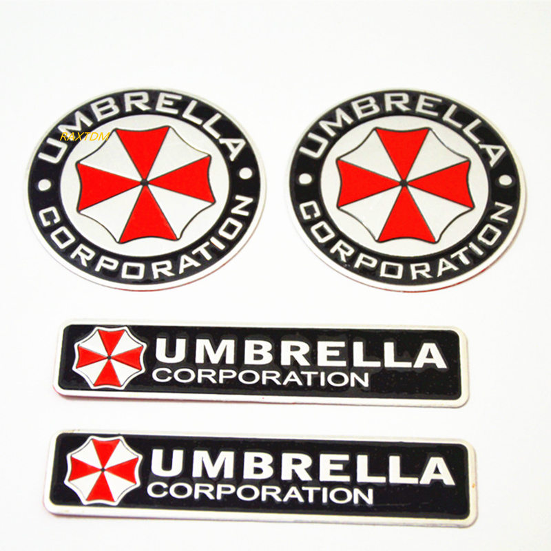 3D Alüminyum Umbrella corporation, araba sticker Için Peugeot 206 207 301 307 308 407 408 508 2008 3008 4008 5008